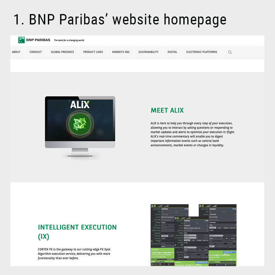 animation for the bnp paribas website