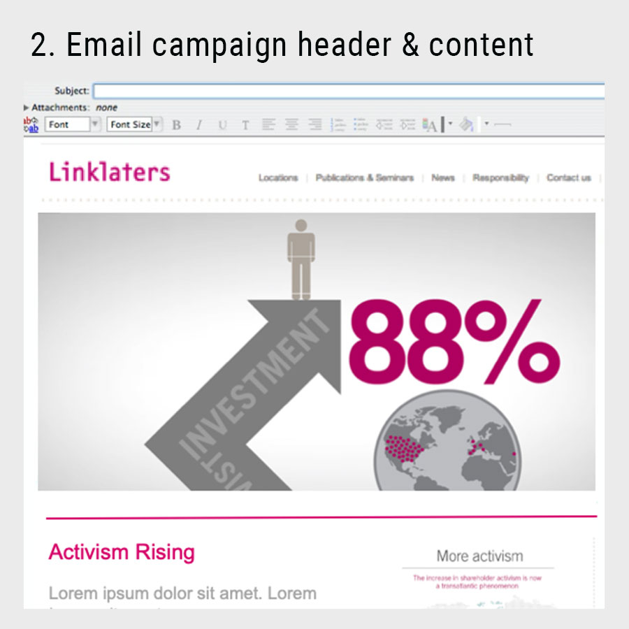 animation for the linklaters email campaign